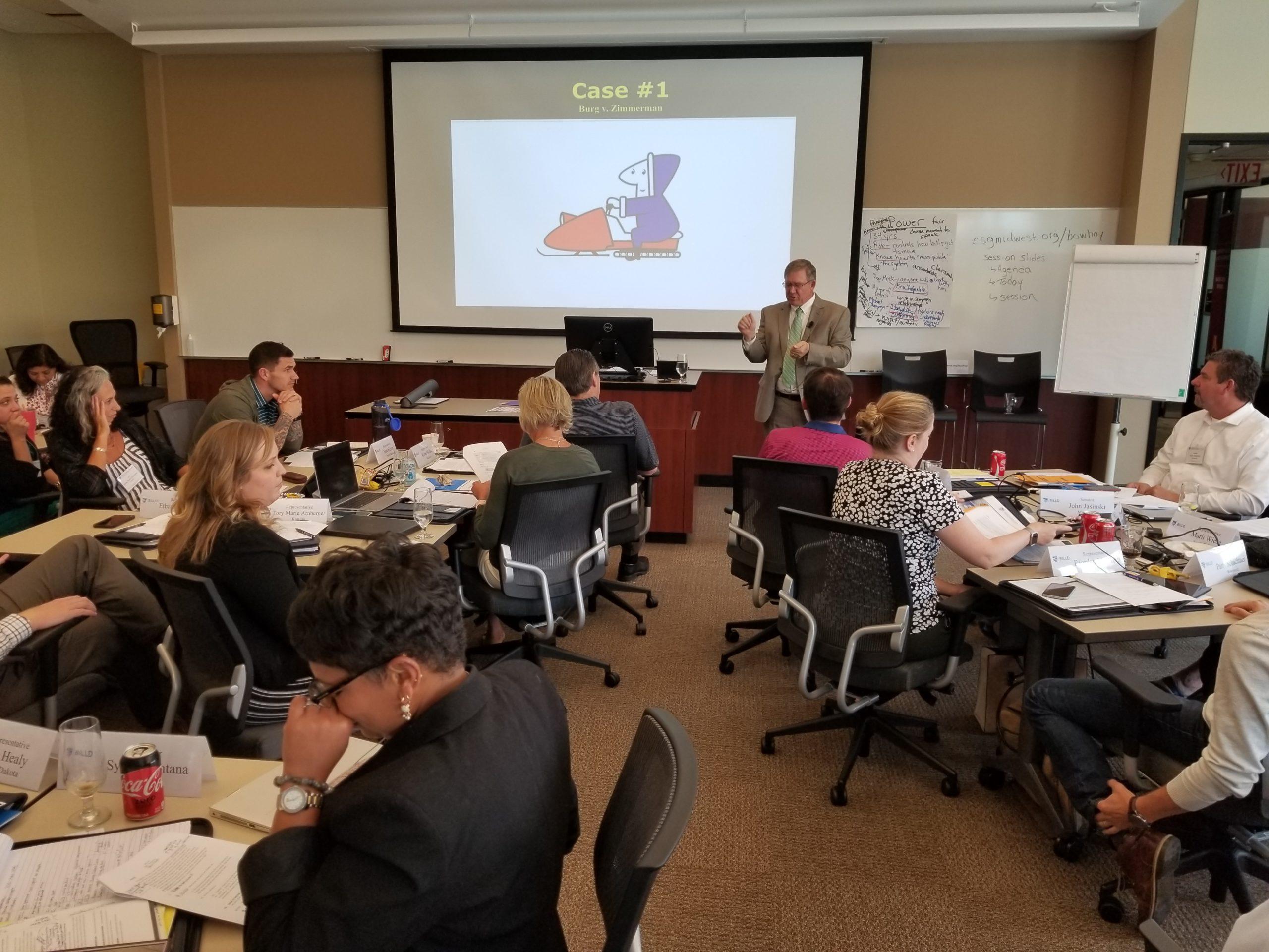 Legislators take part in a BILLD session.