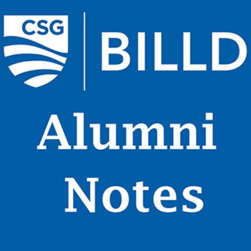 Graphic for BILLD Alumni Notes