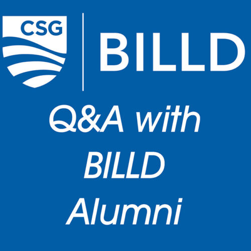 Question and answer with BILLD alumni.