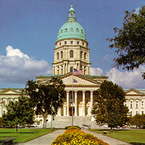 Picture of the State Capitol of Kansas in Topeka.