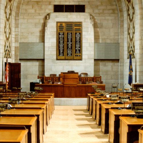 Inside of Nebraska Unicameral Legislature