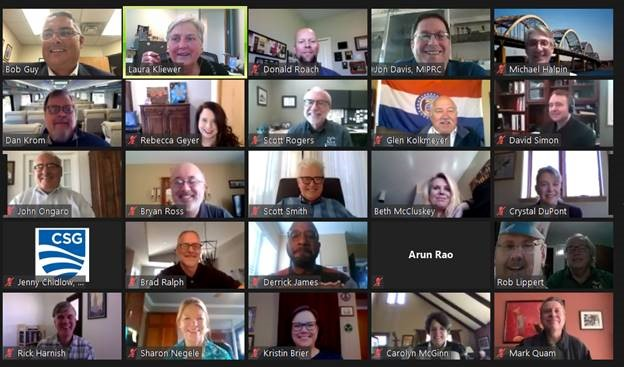 Screen shot of participants in MIPRC's 2020 virtual annual meeting