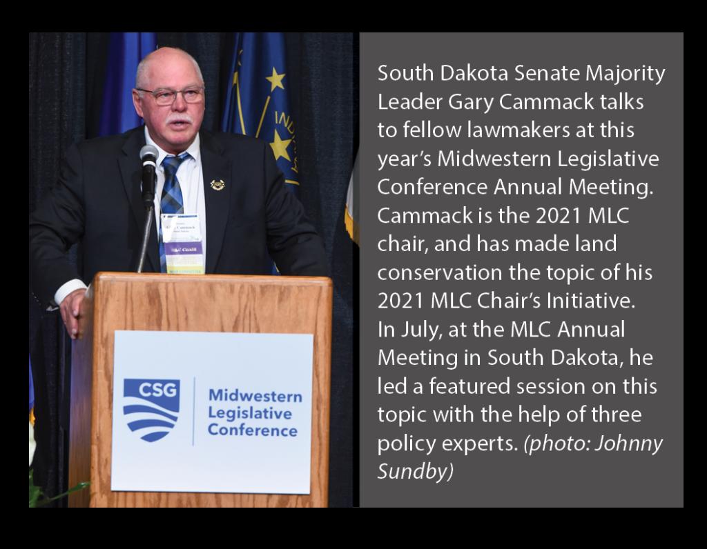Sen Cammack presides over MLC Annual Meeting