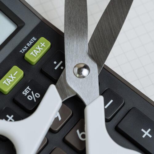 tax or budget cut